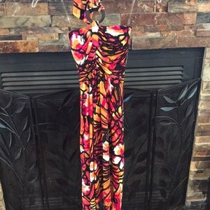 Halter Tropical Dress